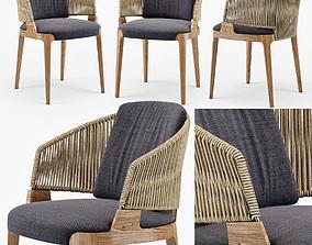 Potocco Velis hand weaved armchair 3D model