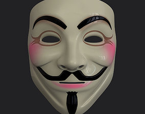 V Mask 3D model