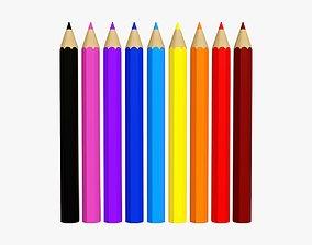 Color pencil set 3D