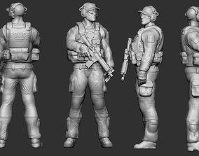 SWAT Police Miniature 3D print model