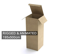 Cardboard Box 195x500cm - Rigged and Animated 3D