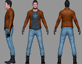 3D character low poly modeling for game