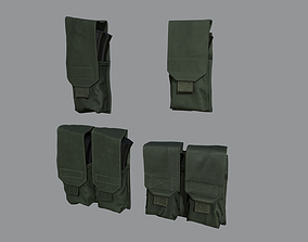 AR-AK Mags pouches pack 3D model