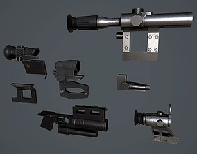 3D asset Pak Russian weapons accessories