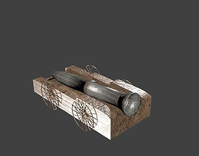 3D model VR / AR ready Cannon weapon