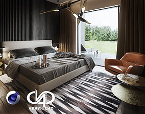 Bedroom Interior Scene for Cinema 4D and Vray 3D