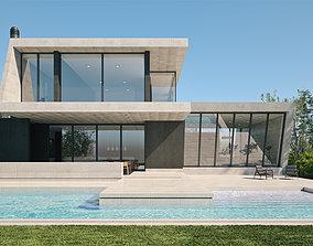 3D model Exterior House Scene 3 - Marble House