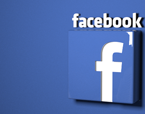 Facebook Logo Ready To Use OBJ 3D model