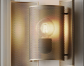 3D model BUTTERFLY PERFORATED Wall Lamp by Northern
