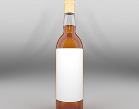 Brandy Long Neck Bottle 3D