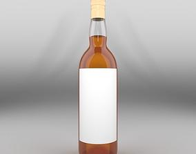 Brandy Long Neck Bottle 3D