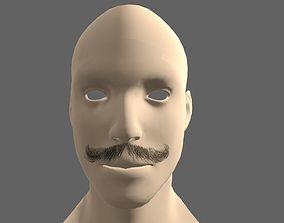 3D model Beard Styles Curly mo