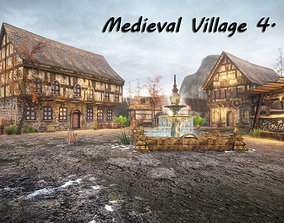 3D model game-ready Medieval Village 4