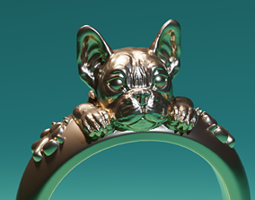 3D printable model Ring Bulldog