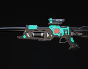 3D model Viir Rifle Scifi Game Ready