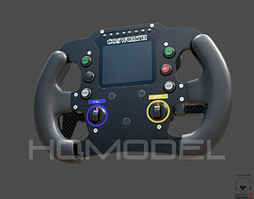 Indy Light Steer Wheel PBR 3D model