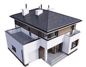 Villa House Cottage E 100 hut 3D