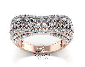 Diamond Bugguate Ring 3D printable model
