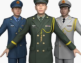 3D model The collection of China Officers Spring and 2