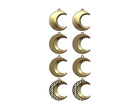 3D print model Crescent moon pendant necklace