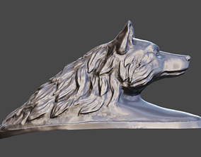 Wolf head on a motorcycle 3D printable model