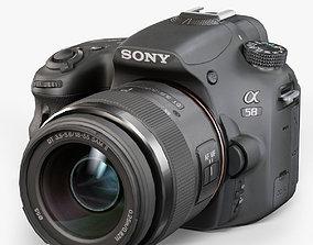 Sony SLT-A58 DSLR camera Kit DT 18-55mm f 3-5 3D model 3