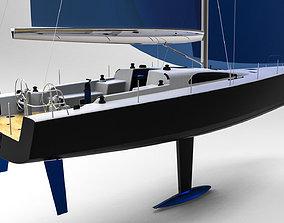vessel Sailing Yacht 3D print model