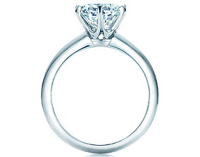 engagement ring tiffany 3D print model jewelry