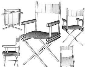 Directors Chair 3D Object