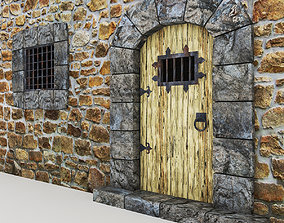 3D asset Medieval Castle Door