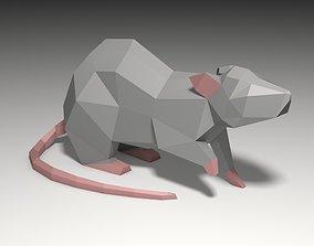 3D printable model rat mouse