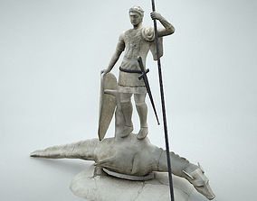 3D model St Teodor Statue