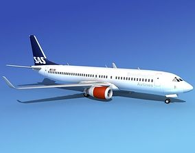 3D Boeing 737-800E SAS