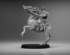 3D print model SciFi Napoleon on Horse - 28mm miniature