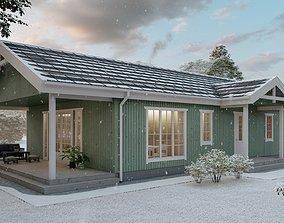 3D Scandinavian house archicad22 sketchup lumion10