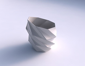 Bowl Spheric Lattice with huge plates 3D printable model