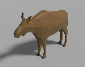 3D asset realtime Cartoon Moose