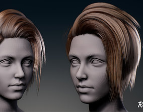 Real-time woman hair 3D model