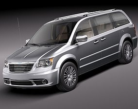 Chrysler Town And Country 2011 3D Model