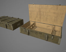 Crate Low Poly Game Ready 3D asset