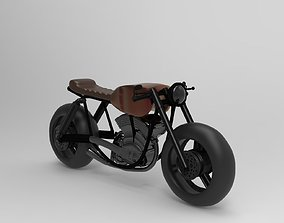 caferacer motorcycle 3D print model
