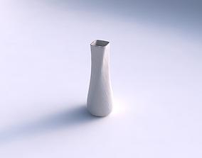 3D printable model Vase semi quadratic with rocky fibers