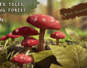 Painted Tiles - Sleeping Forest 3D model