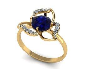 Three-leaf diamond ring model