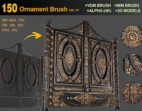 150 Ornament Brush and Alpha - VOL 01 3D