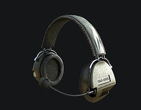 Tactical Headsets Game-ready PBR 3D asset