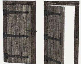 Door Old Wooden 3D asset