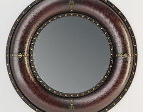 3D model Benzara Leather Wall Mirror