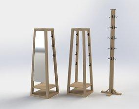 furniture 3D model coat hanger
