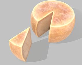 Parmesan Cheese Wheel 3D model